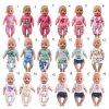 Souprava oblečení pro panenku BABY born 43cm - zvířecí pyžamo