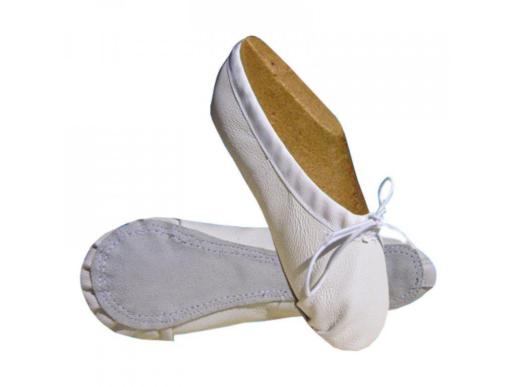 Pánské taneční piškoty KC bílá - celá podešev (velikost 43)