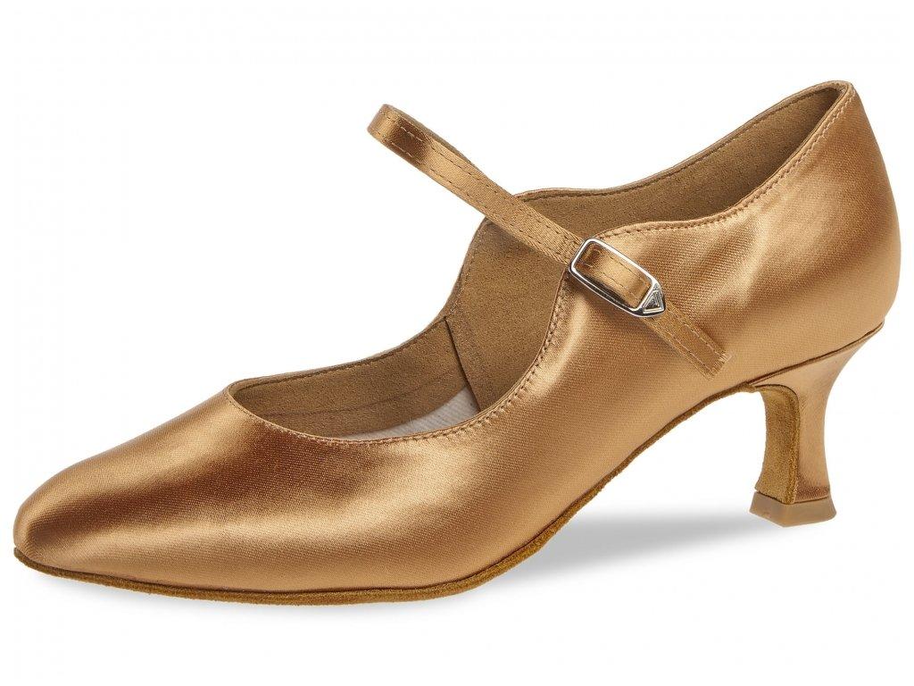 Taneční boty Diamant 050 bronzová - 5 cm Flare (velikost 36)