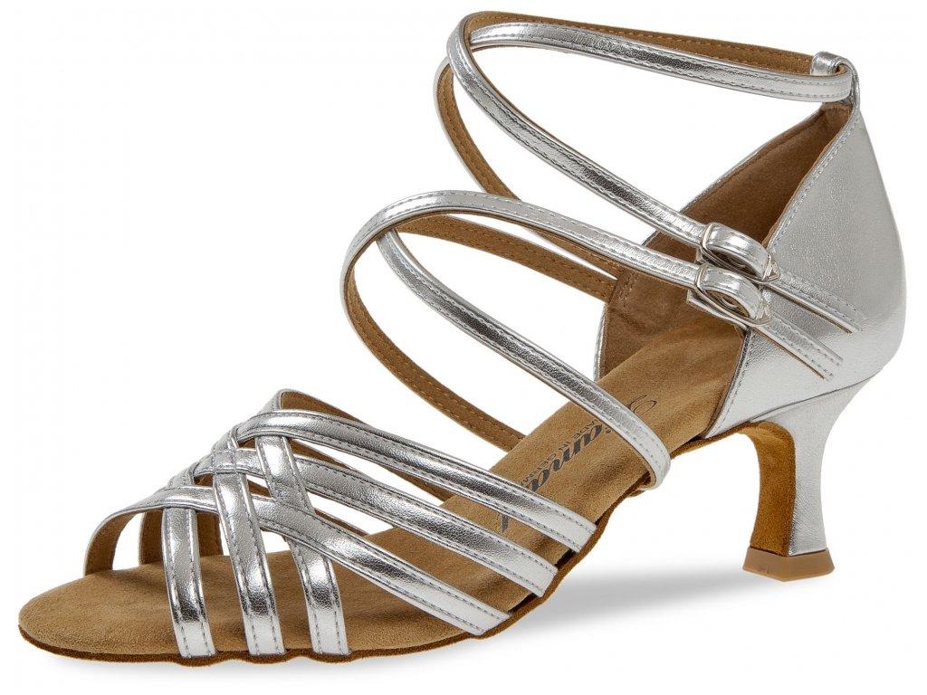 Taneční boty Diamant 108 stříbrná - 6,5 cm Flare (velikost 36)