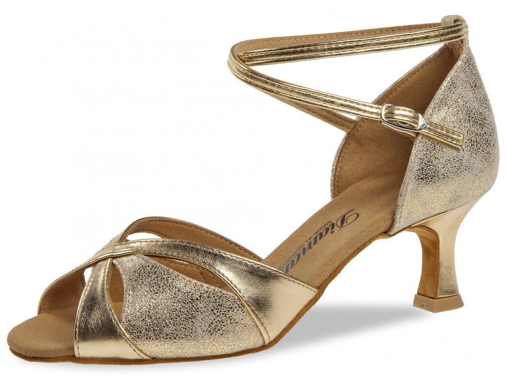 Taneční boty Diamant 141 zlatá - 5 cm Flare (velikost 36)