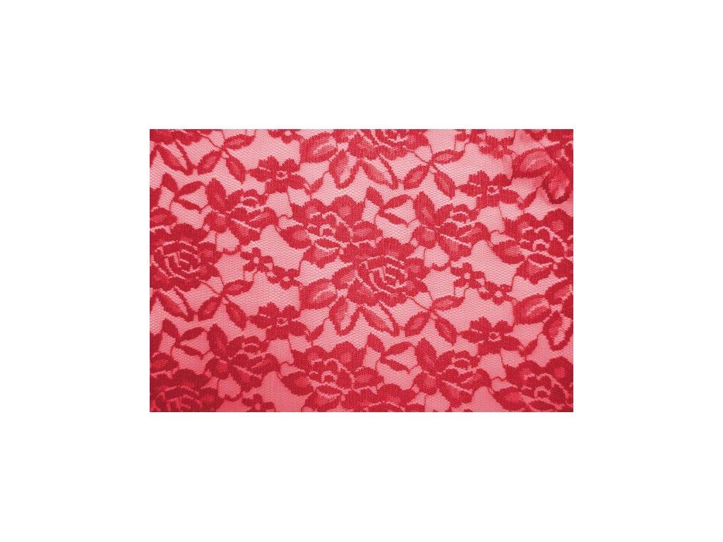 krajka elasticka 3 cervena