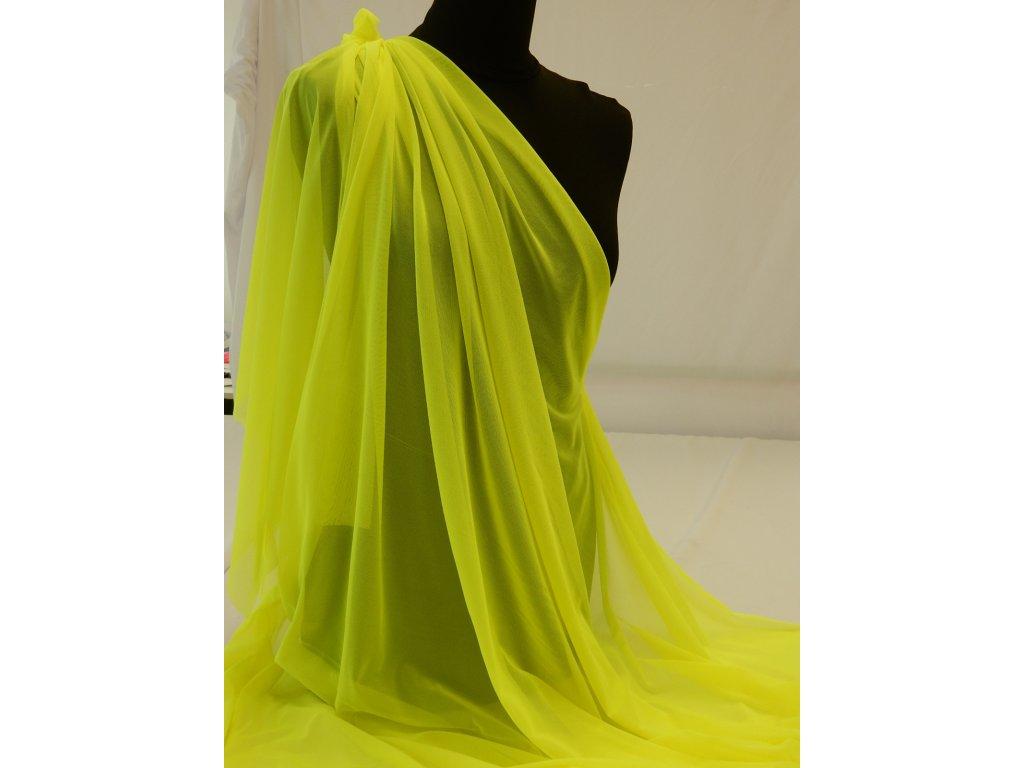 Tyl elastický -  Žlutá Neon