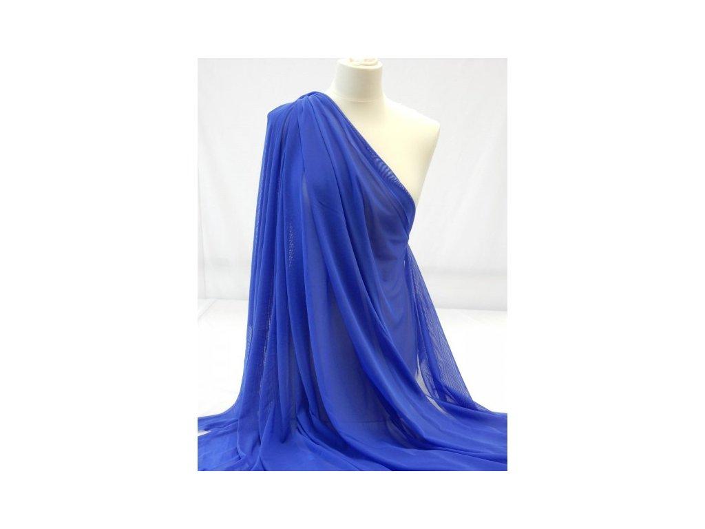 tyl elasticky kralovska modra
