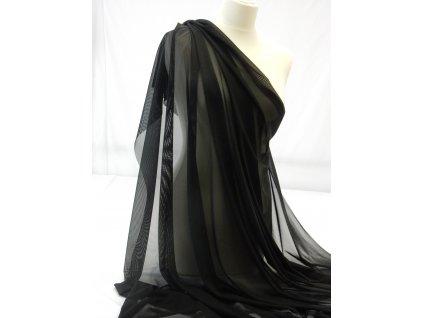 Tyl  elastický -  Černá