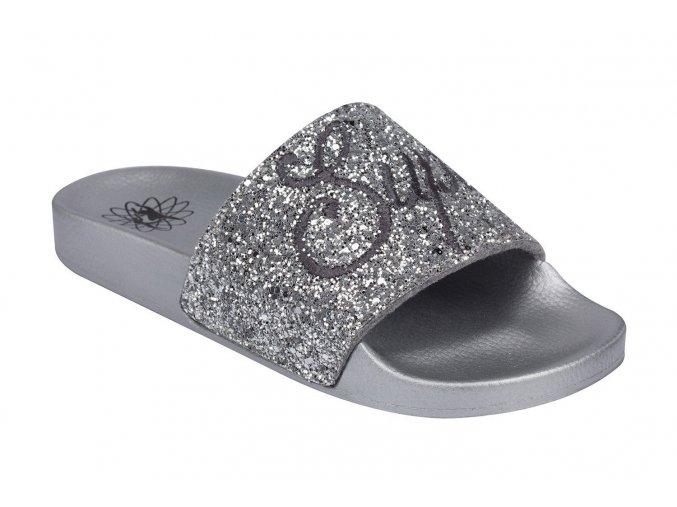 Style Style 7088 Silver Glitter Slides
