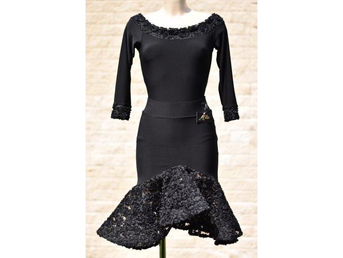 Dámská taneční sukně s kytičkovým kanýrem