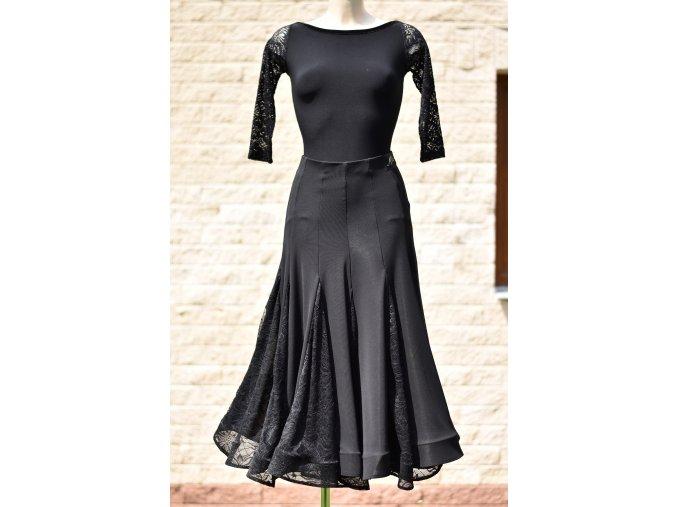 Dámská dlouhá taneční sukně s krajkovými klíny