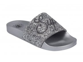 7788 Silver glitter slides