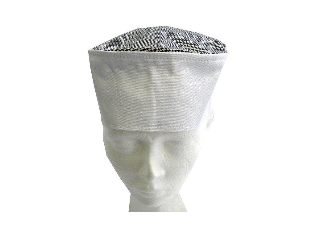 Kuchařská čepice Chef bílá-pepito