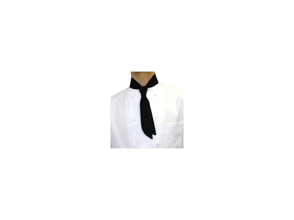 kucharska kravata cerna detail