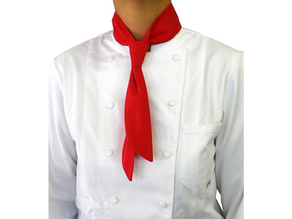 kucharska kravata cervena mini
