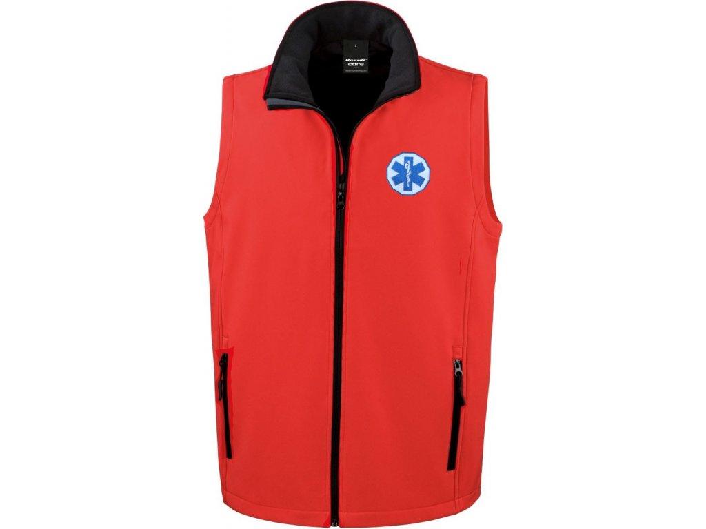 Oblečení pro zdravotníky - záchranářské oblečení - Softshellová vesta Záchranář pánská 1