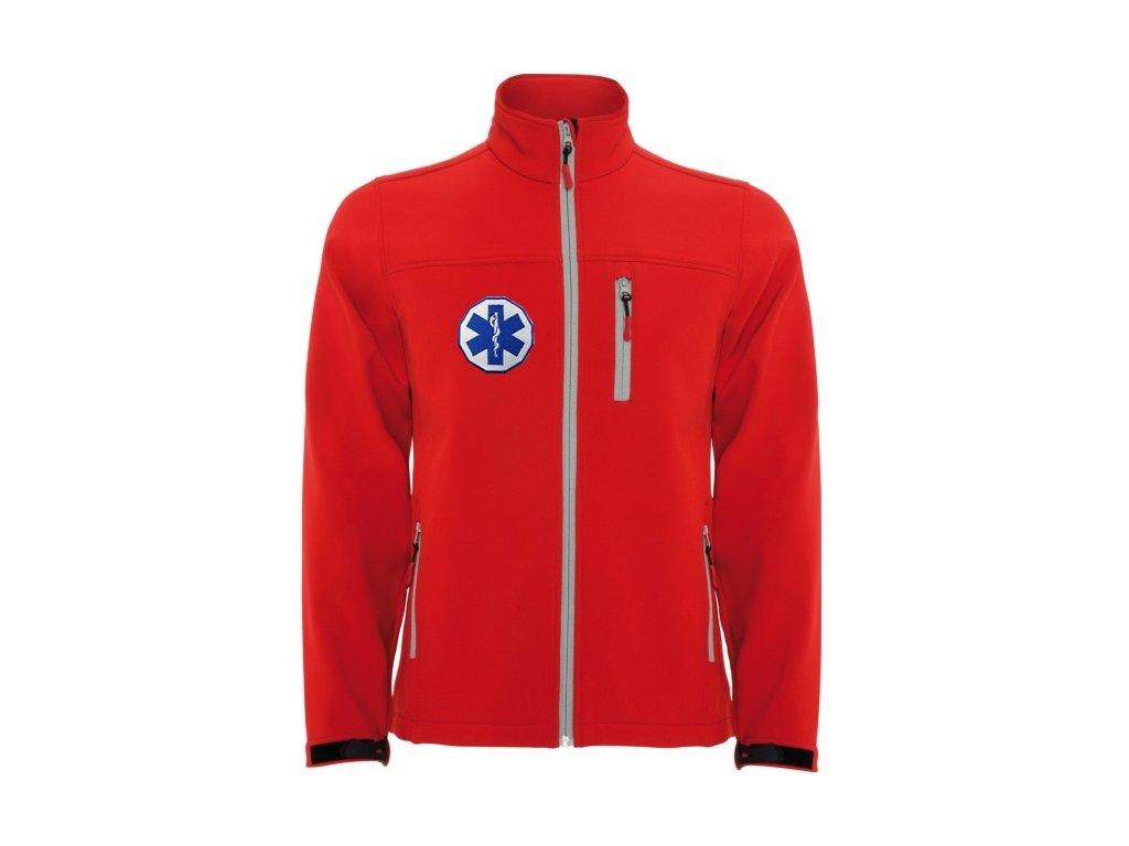 Oblečení pro zdravotníky - záchranářské oblečení - Softshellová bunda malý Záchranář dětská červená