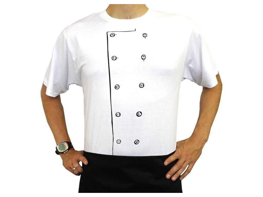 Kuchařské tričko Kuchař bílé