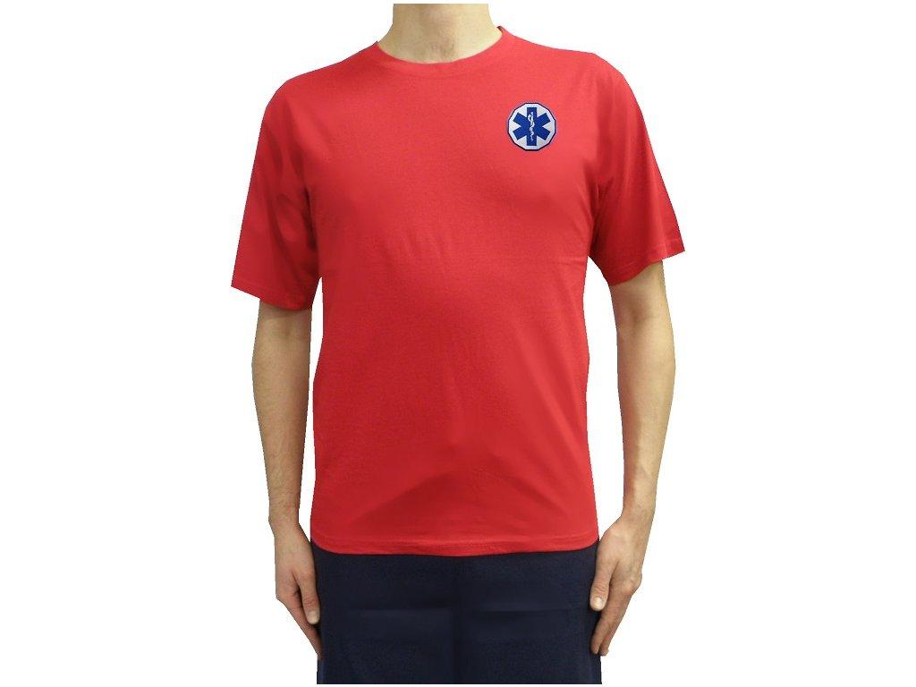 Oblečení pro zdravotníky - záchranářské oblečení - Tričko Záchranář červené