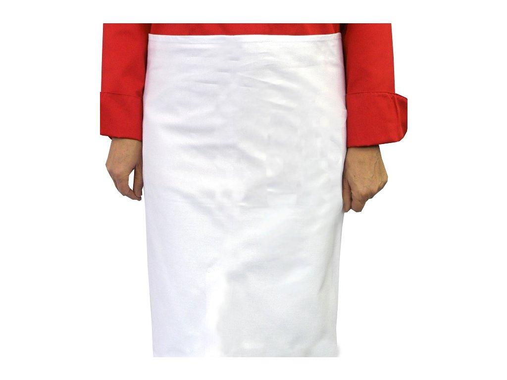 Kuchařská zástěra do pasu Profi bílá