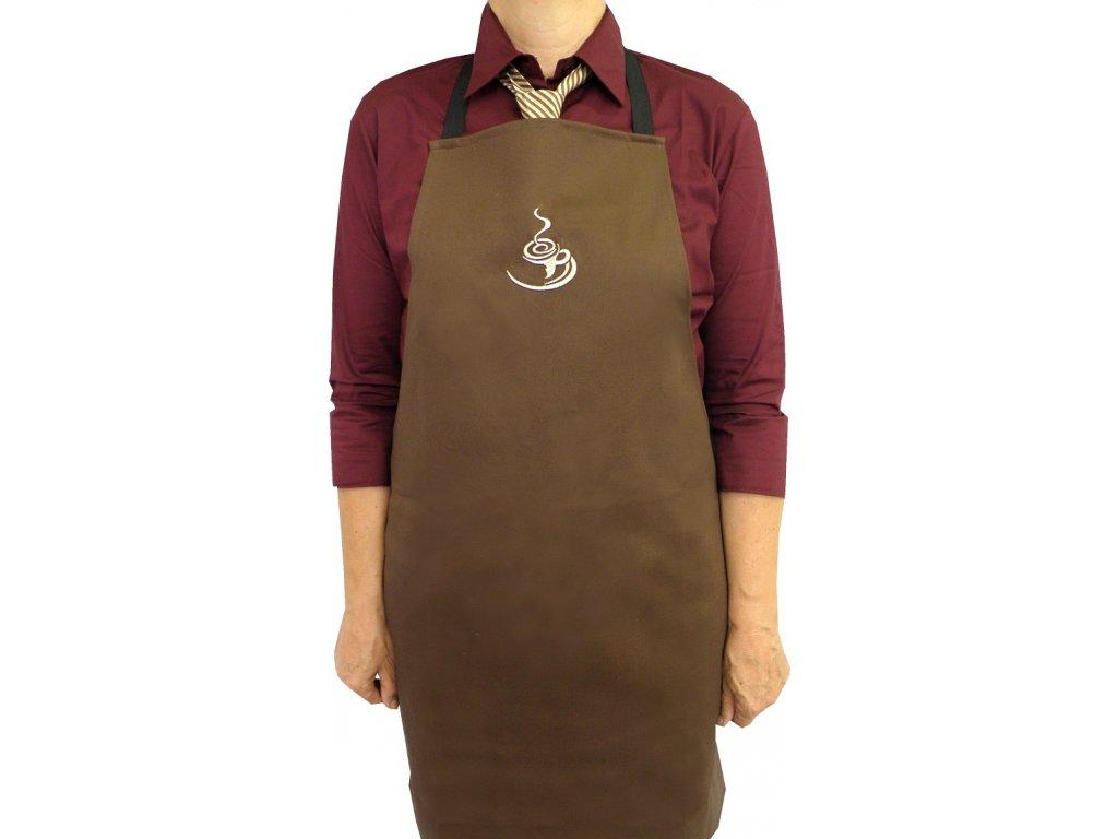 Zástěra Caffé hněda