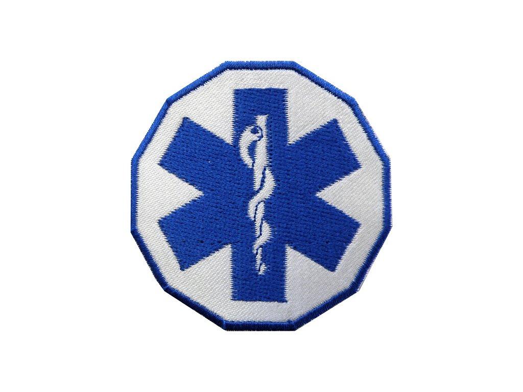Oblečení pro zdravotníky - záchranářské oblečení - Textilní nášivka Záchranář - hvězda života