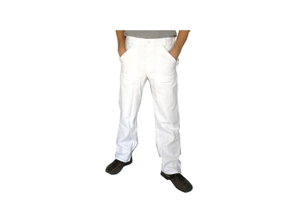 Kuchařské kalhoty Start bílé