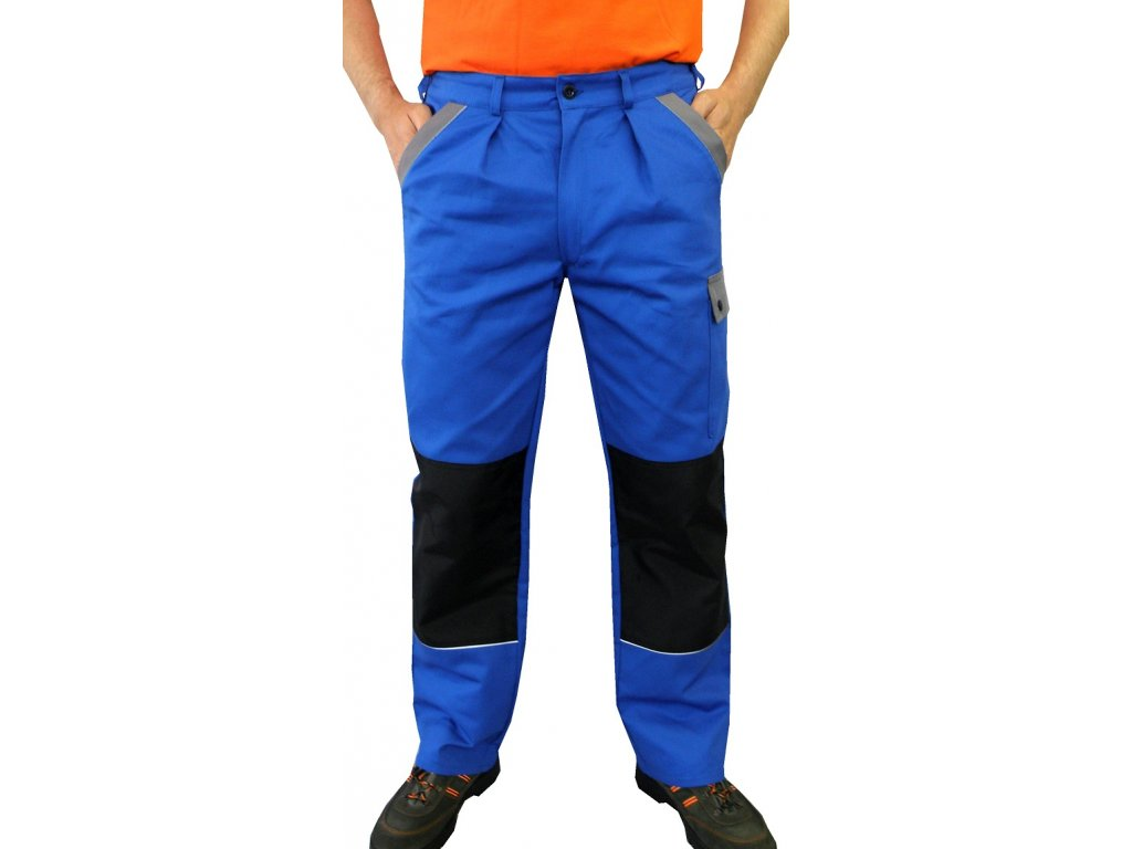 pracovni kalhoty do pasu craft modre