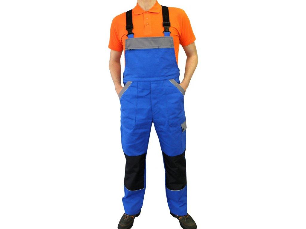 pracovni kalhoty s laclem craft modre