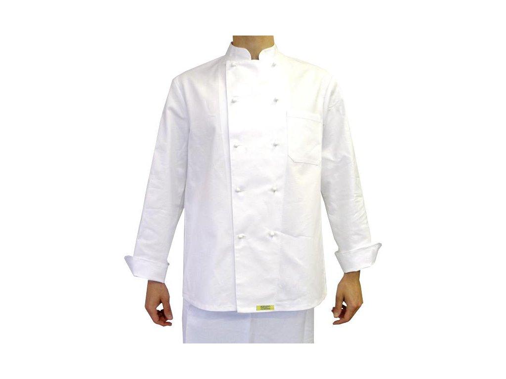 Kuchařský rondon Komfort bílý pánský dlouhý rukáv