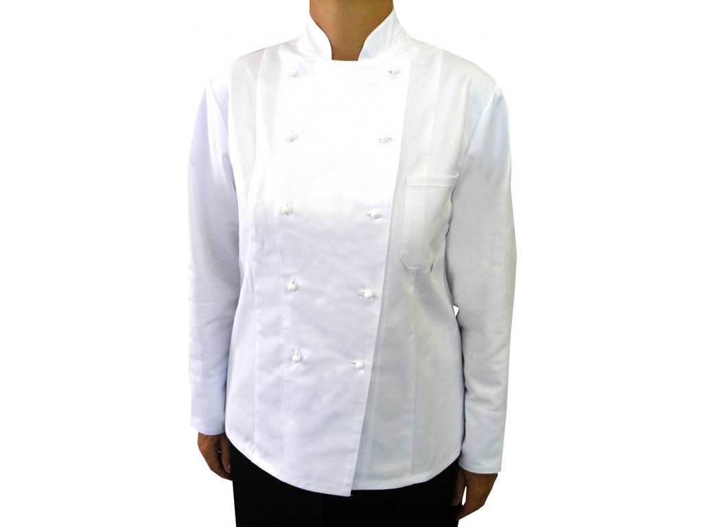 Kuchařský rondon Komfort bílý dámský