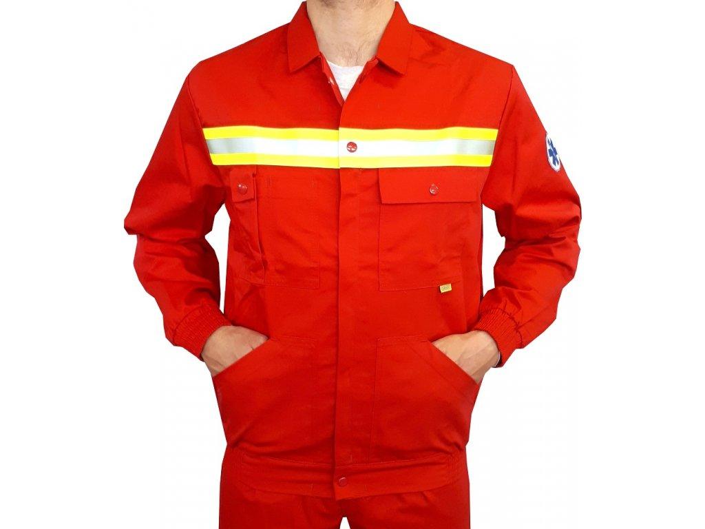 Oblečení pro zdravotníky - záchranářské oblečení - Reflexní bunda Záchranář červená 1