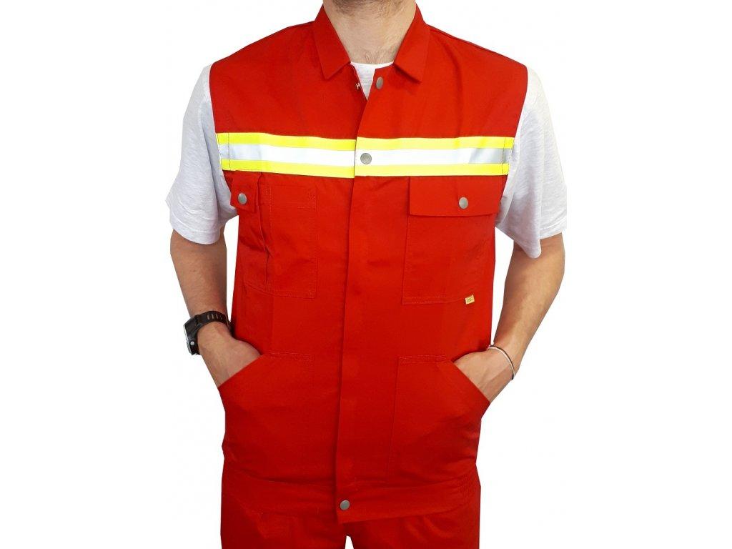 Oblečení pro zdravotníky - záchranářské oblečení - Reflexní vesta Záchranář červená