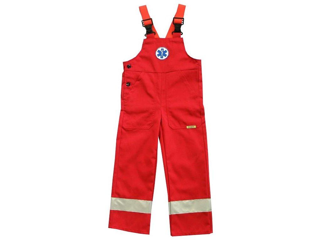 Oblečení pro zdravotníky - záchranářské oblečení - Dětské reflexní kalhoty s laclem Záchranář