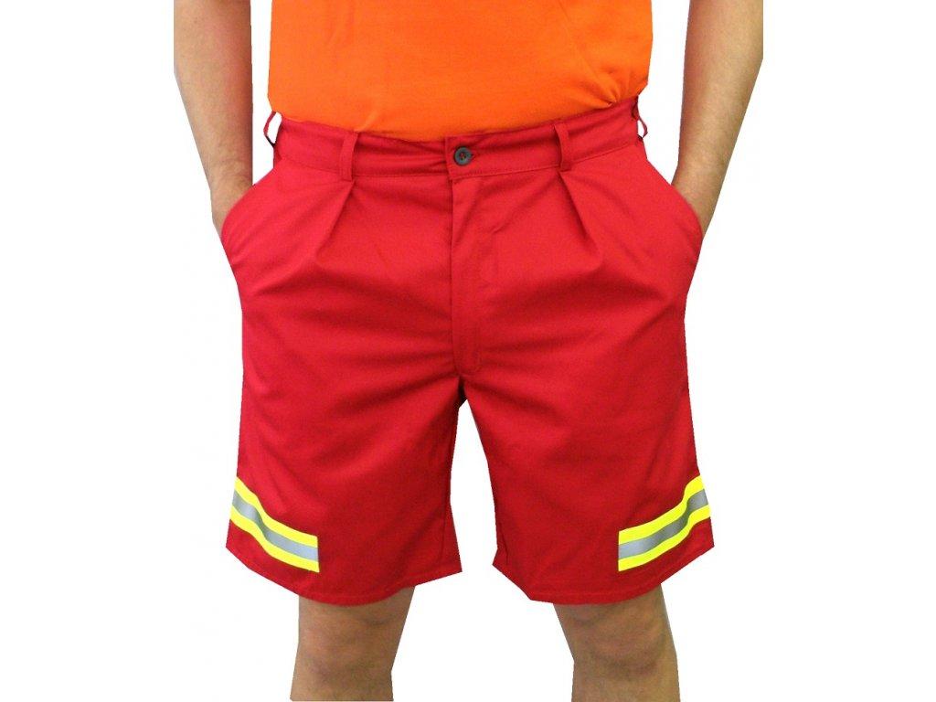 Oblečení pro zdravotníky - záchranářské oblečení - Reflexní kraťasy Záchranář červené