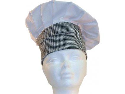 Kuchařská čepice bílá-pepito