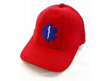 Oblečení pro zdravotníky - záchranářské oblečení - Kšiltovka Záchranář červenáksiltovka zachranar cervena 7898