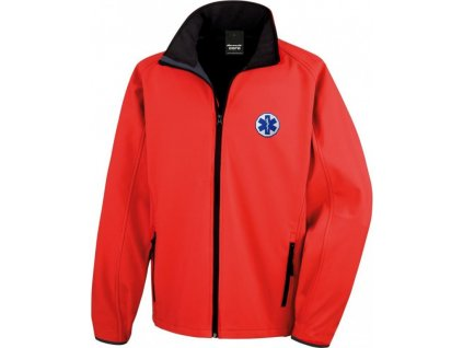 softshellova bunda panska zachranar cervena 7656