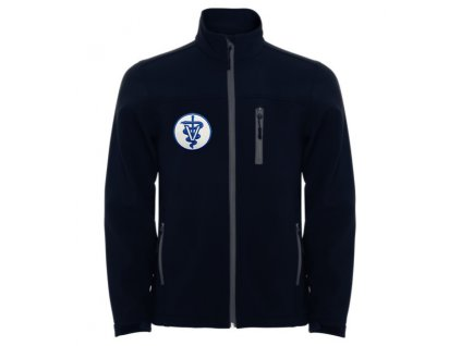 Oblečení pro zdravotníky - záchranářské oblečení - Softshellová bunda malý Veterinář dětská modrá