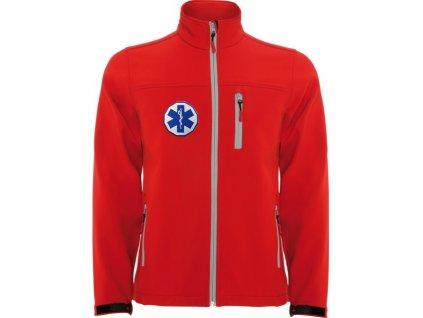 softshellova bunda maly zachranar detska cervena 7815
