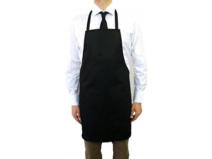 Kuchařská zástěra s laclem Profi černá