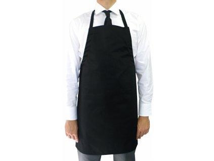 Kuchařská zástěra s laclem Premium černá