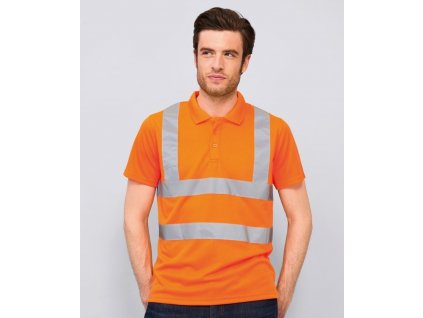 Oblečení pro zdravotníky - záchranářské oblečení - Polokošile Signal neon 1