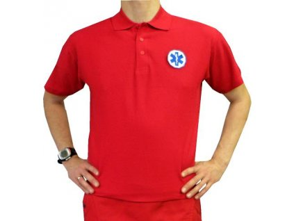 Oblečení pro zdravotníky - záchranářské oblečení - Polokošile Záchranář červené pánské
