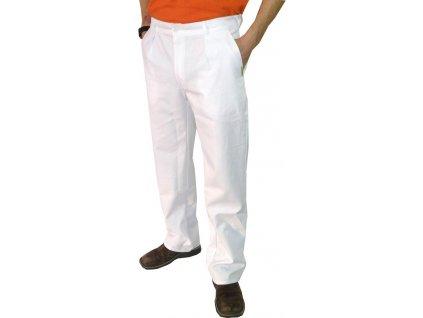 Kuchařské kalhoty Klasik bílé