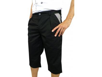 Kuchařské kalhoty Capri černé-pepito