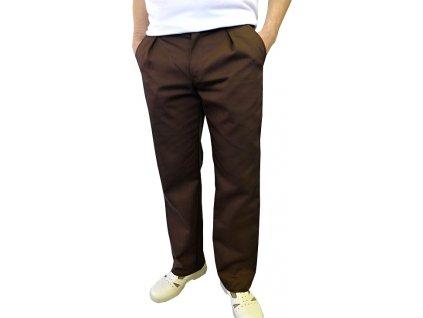 Kuchařské kalhoty Klasik hnědé
