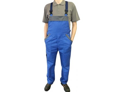 kalhoty s laclem praktik modro sedy