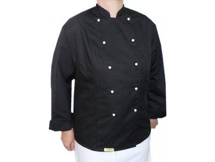 Kuchařský rondon Premium dámský černý dlouhý rukáv