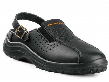 pracovni sandal cat cerny 7568
