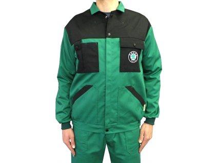 Pracovní bunda Škoda zelená