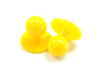 Knoflík do kuchařského rondonu žlutý