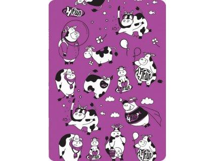 multifunkcni satek detsky funny cows kravy